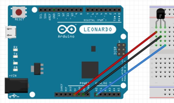 ArduinoとBluetoothモジュールで温度センサの値をスマホに送信する